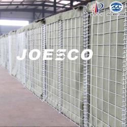 JOESCO military defense bastion with beige geotextile